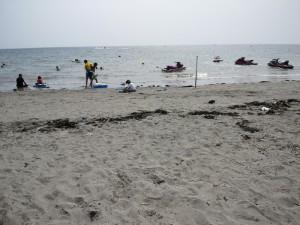 平和なビーチ